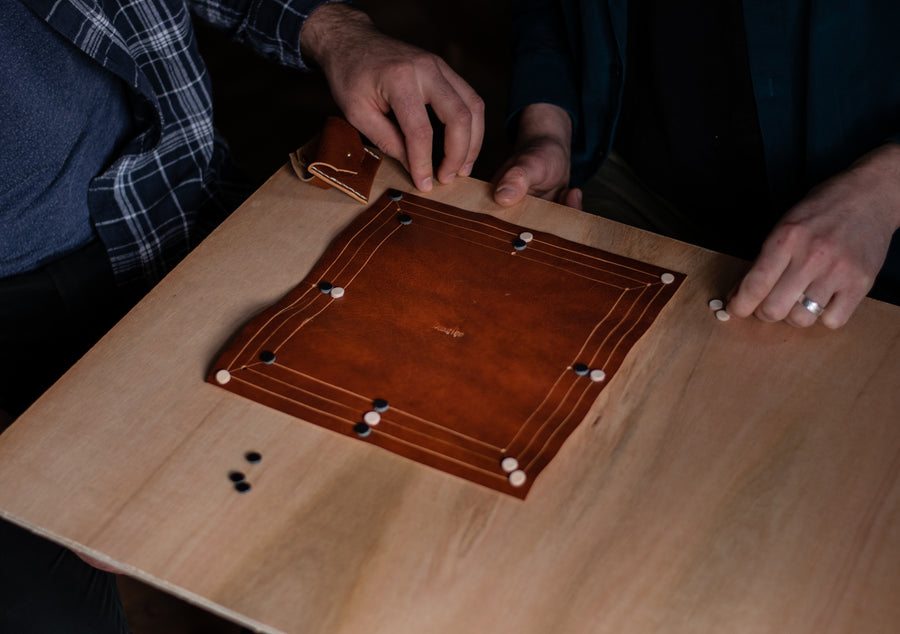 leather board game