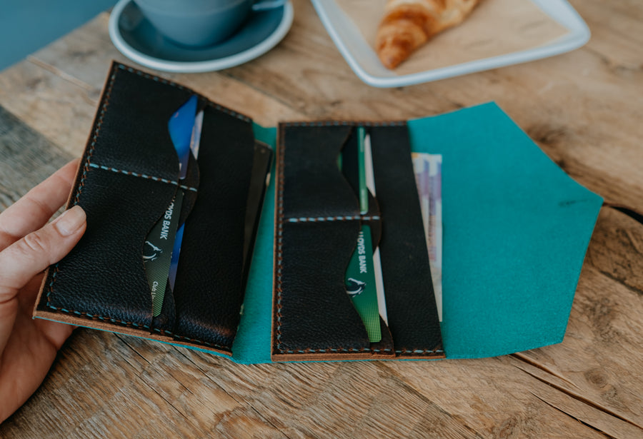 large leather wallet for women