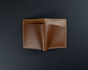 The No. 32 Personalised Leather wallet - Whiskey