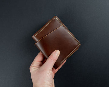 The No. 32 Leather wallet - Brown and Whiskey READY TO SHIP