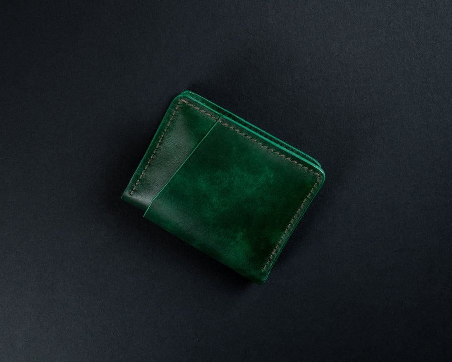 The No. 32 Leather wallet - Green