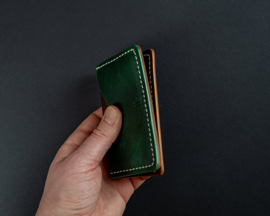 hand stitched leather cards wallet