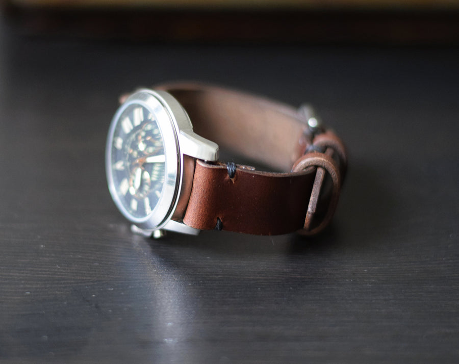 Horween leather watch band, The No. 50