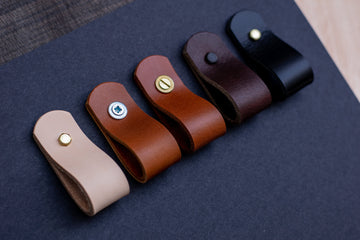 Full grain leather drawer pulls, leather pulls, leather handles
