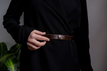 brown leather womens belt