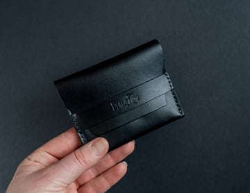 black leather cards wallet