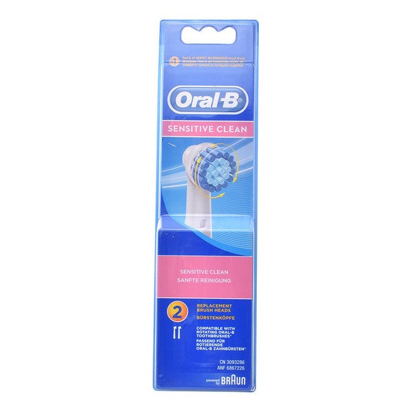 Tandborsthuvud Sensitive Clean Oral-B (2 st) - parfymeria