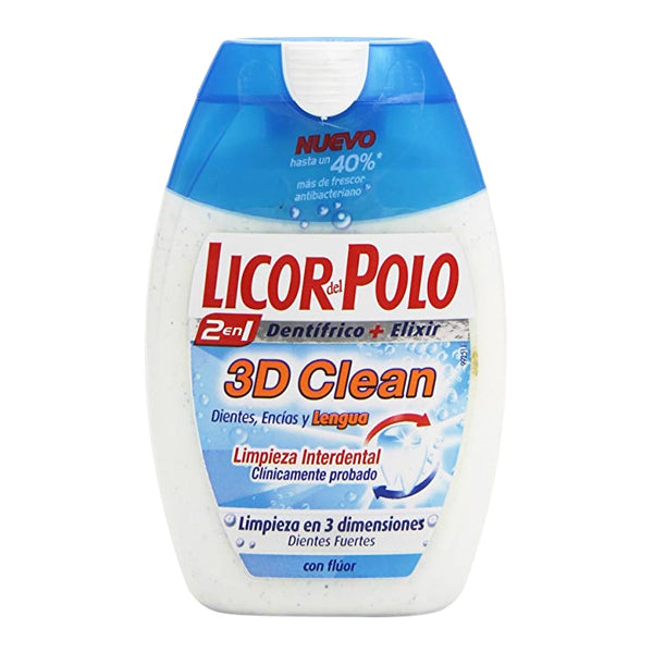 Tandkräm 3d Clean Licor Del Polo (75 ml) - parfymeria