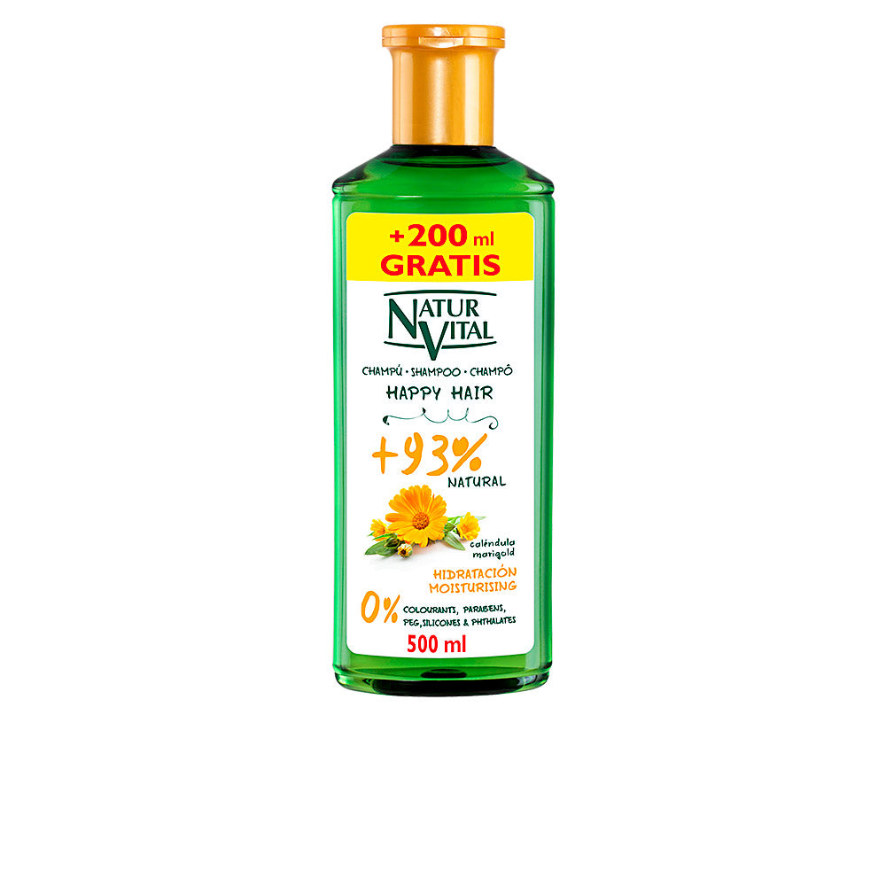 Fuktgivande schampo Happy Hair Naturaleza y Vida (500 ml) - parfymeria