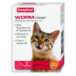 Beaphar Worm Clear  cat 2 tablets