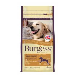 Burgess Sensitive Adult Dog Turkey & Rice 2kg