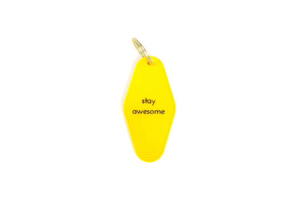 stay awesome keychain
