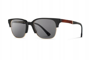 Shwood Newport 52mm: Black // Mahogany - Grey