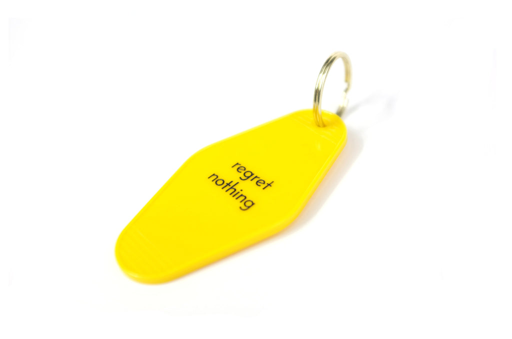 regret nothing keychain
