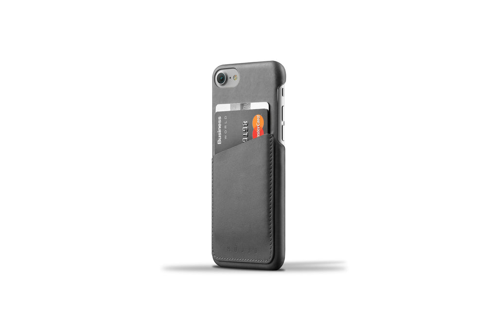 Leather Wallet Case for iPhone 7 - Gray