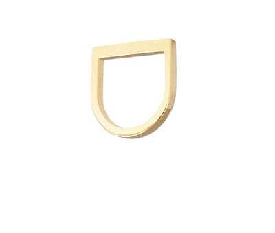 Gracilis I Women's Stacking Brass Ring