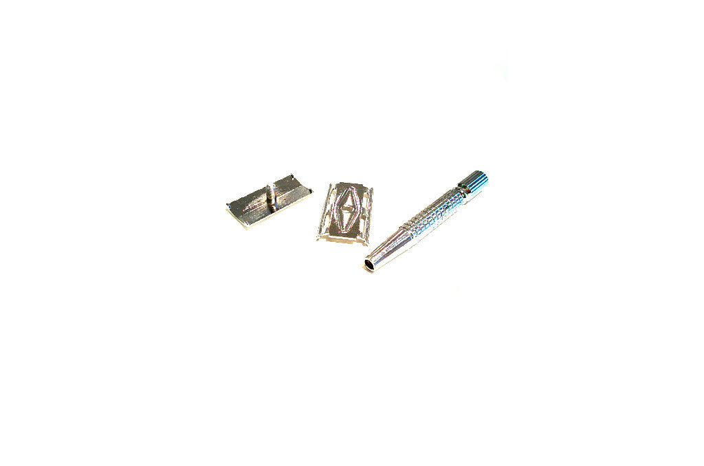 3 Piece Safety Razor + 10 Blade Set