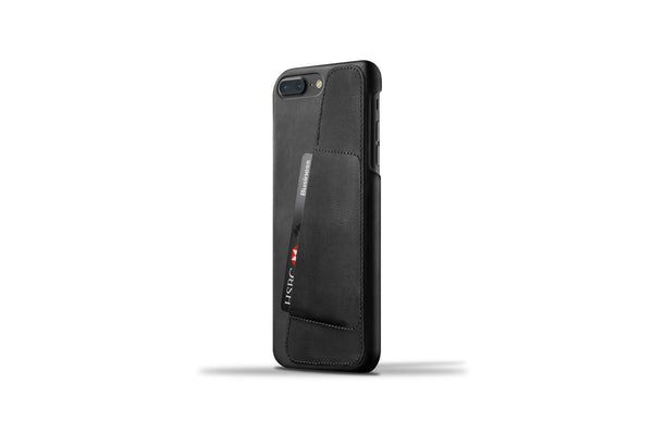 Leather Wallet Case for iPhone 7 Plus - Black