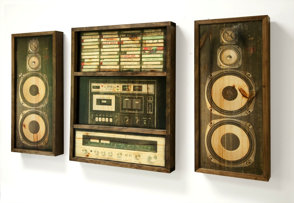 Mix Tape Console (ltd. ed.) Gallery Wall Art (includes 2 speakers)