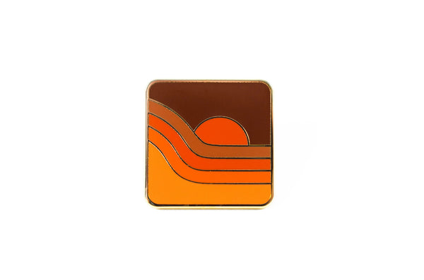 70's Sunset Pin