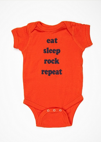 "He Said She Said ""Eat Sleep Rock Repeat"" Onesie"