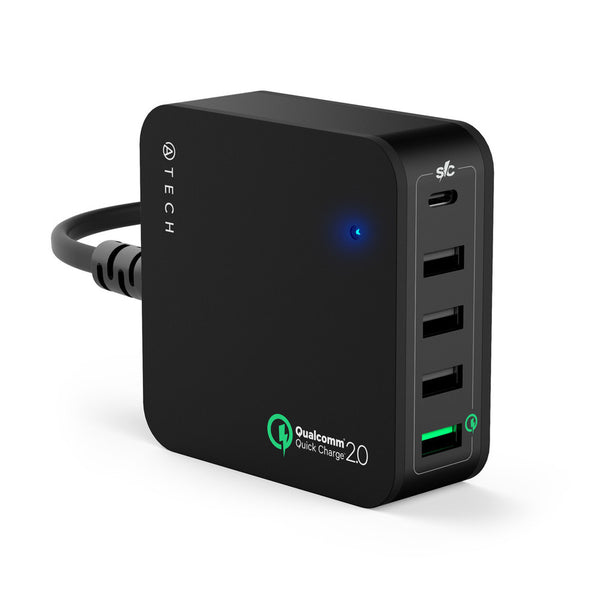 5-Port QuickCharger with USB-C