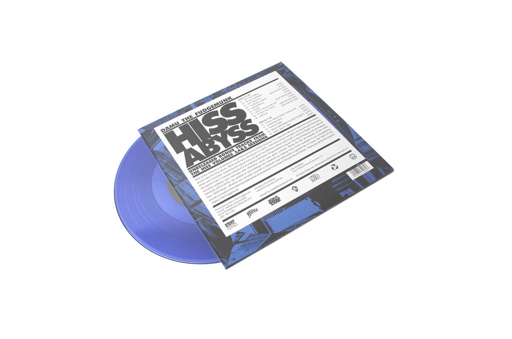 "Damu The Fudgemunk - HISS ABYSS: How It Should Sound 3, 4 & 5 Bonus Tracks (10"" Blue Vinyl EP)"