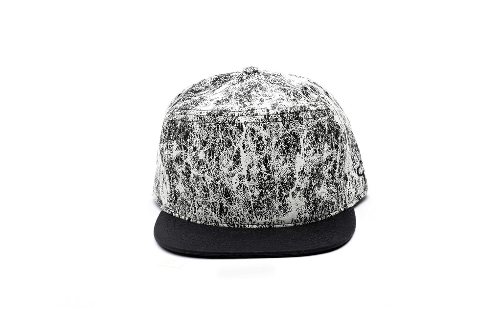 Woven Marble Wax Canvas Strapback Black/white