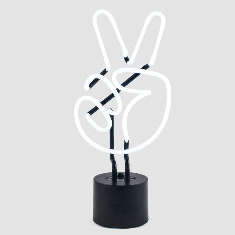 Peace Neon Desk Lamp
