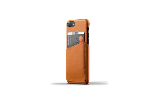 Leather Wallet Case for iPhone 7- Tan