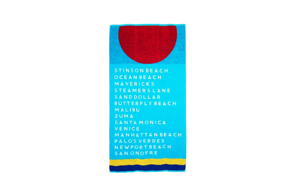 Coastal Beaches Beach Towel