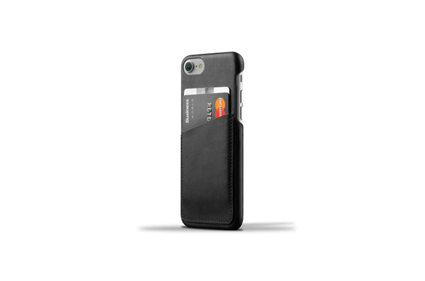 Leather Wallet Case for iPhone 7 - Black