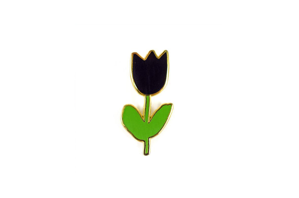 Black Tulip Pin