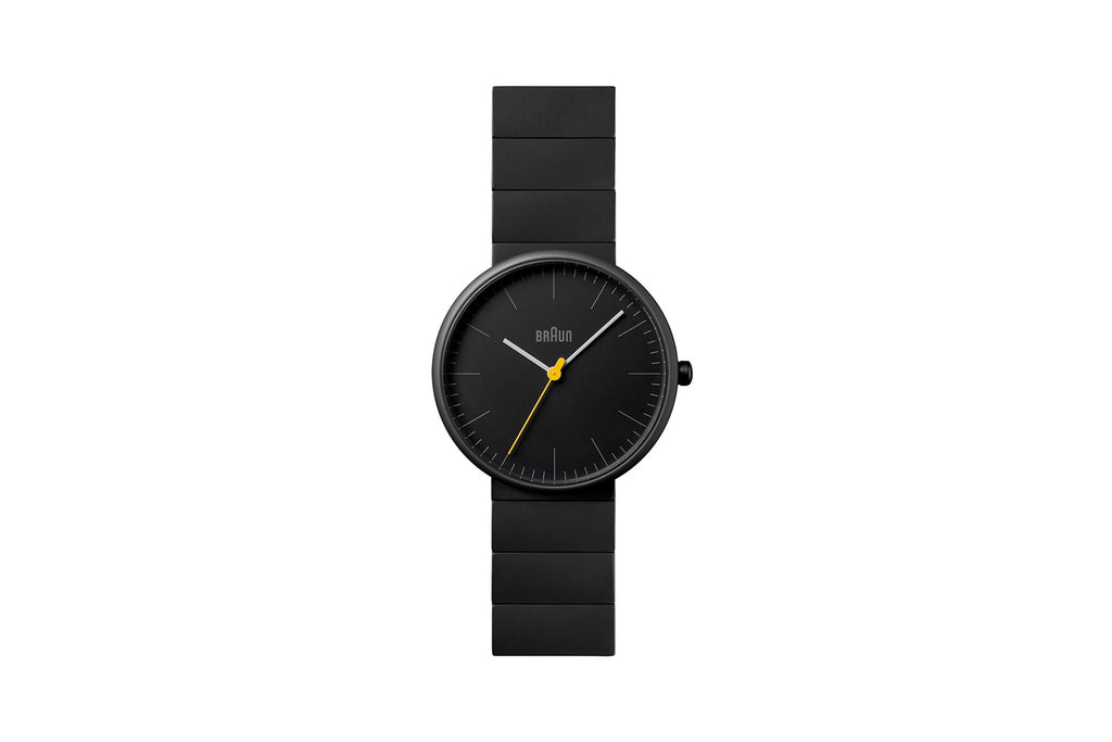 Braun 38mm Ceramic Analog Watch, Matte Black