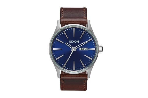 Sentry Leather Watch Blue/Brown