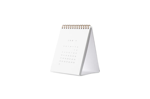 2017 Desk Calendar Dove Gray