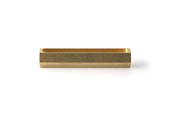 Hex Brass Bar Business Card Holder