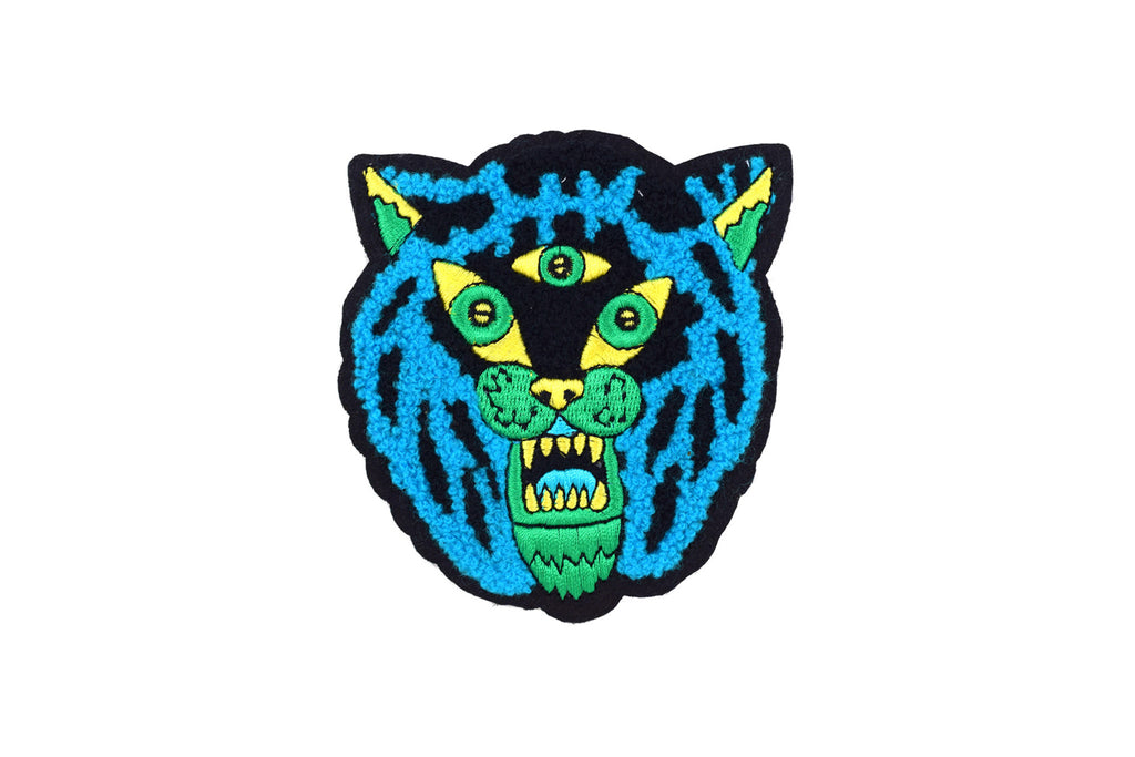 Three Eyed Tiger Chenile Patch