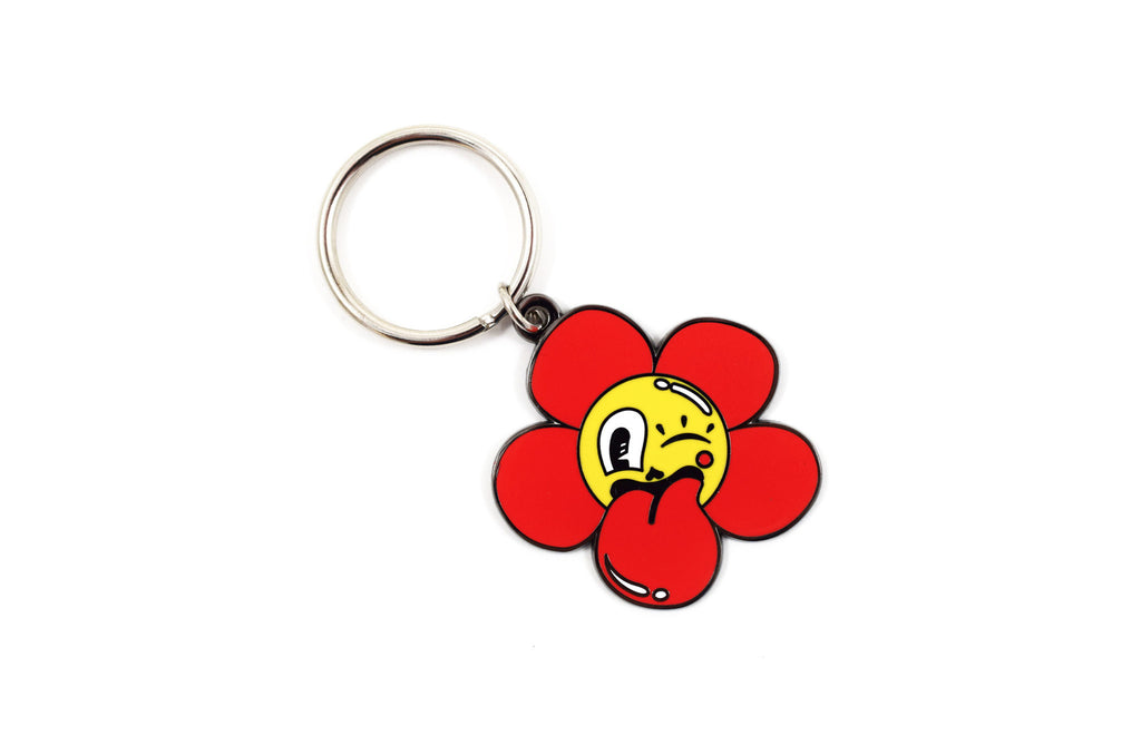 Cheeky Flower Keychain