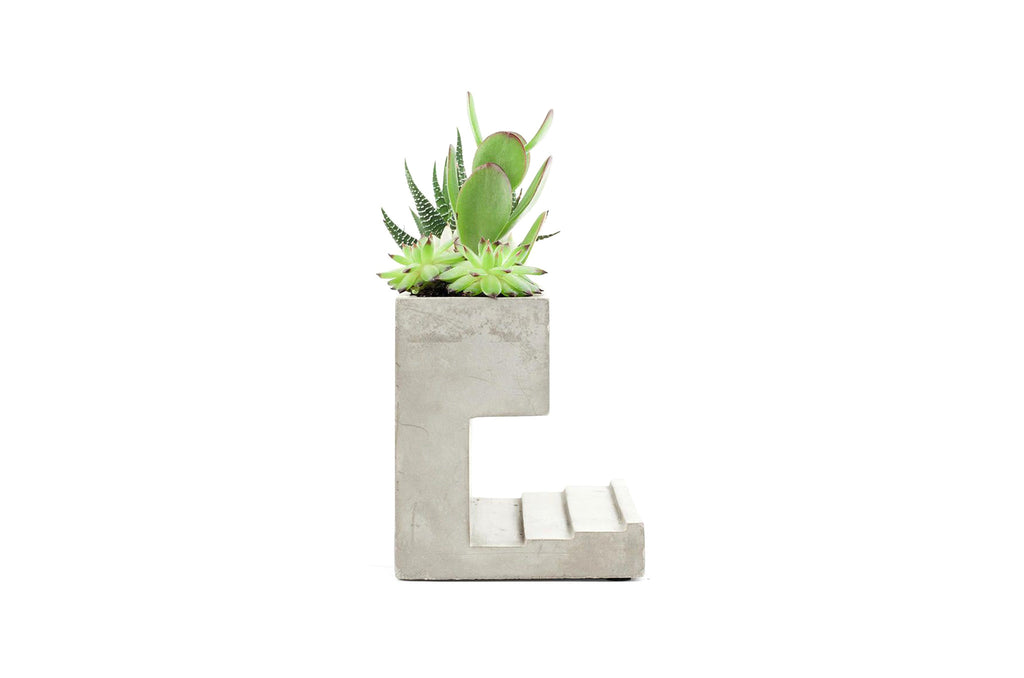 Large Concrete Desktop Planter