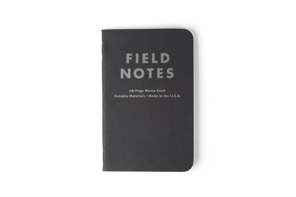 Field Notes - Pitch Black Dot-Graph 3-Pack