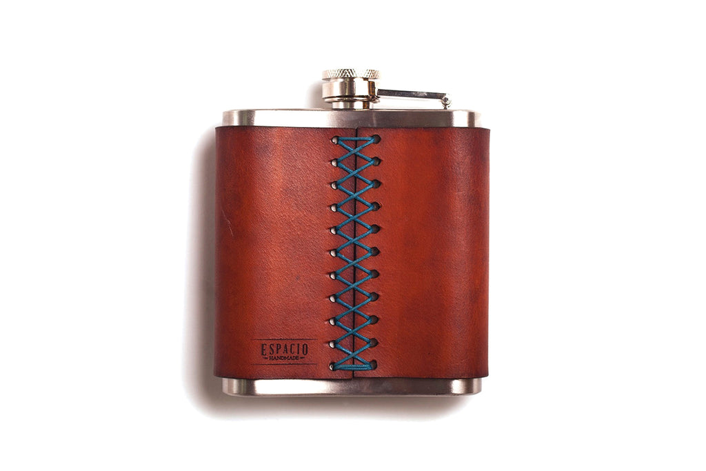 Leather Wrapped Stainless Steel Flask