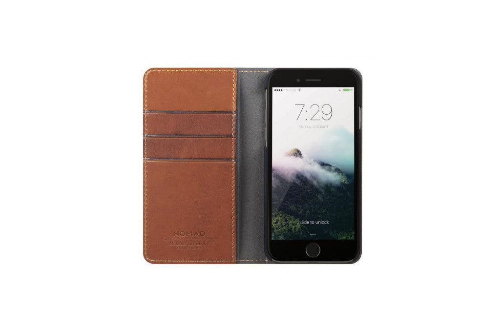 Nomad Horween Leather Folio Case for iPhone