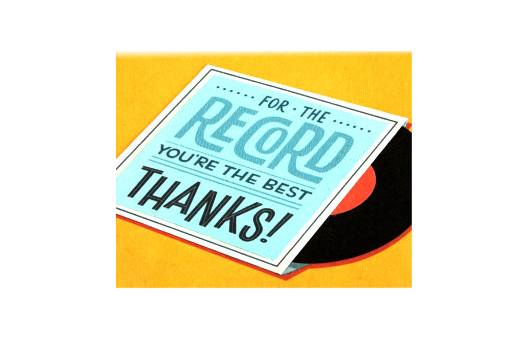 Record Thanks Card
