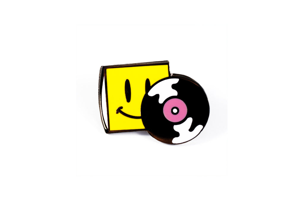 Happy Vinyl Pin