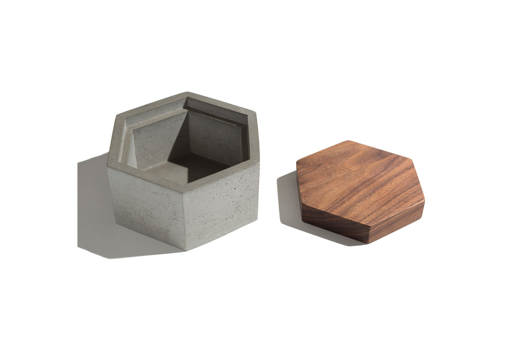 Concrete Hexagon Box