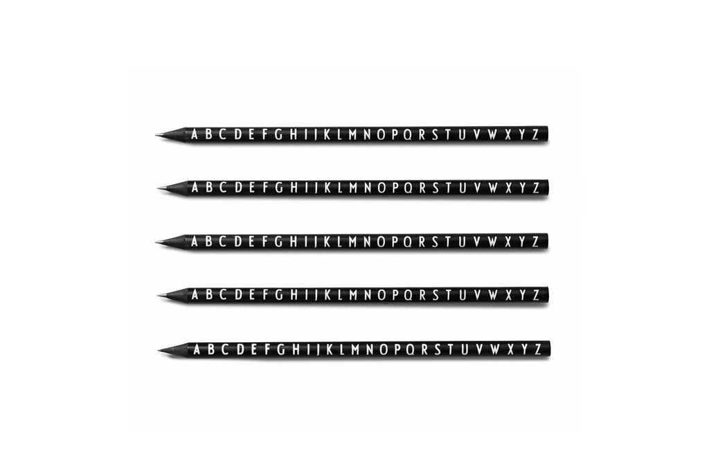 Design Letters 5-Pencil Set Black