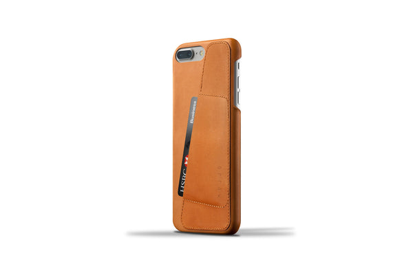 Leather Wallet Case for iPhone 7 Plus - Tan