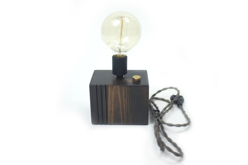 Tri-Cut Brass Knob Touch Control Lamp