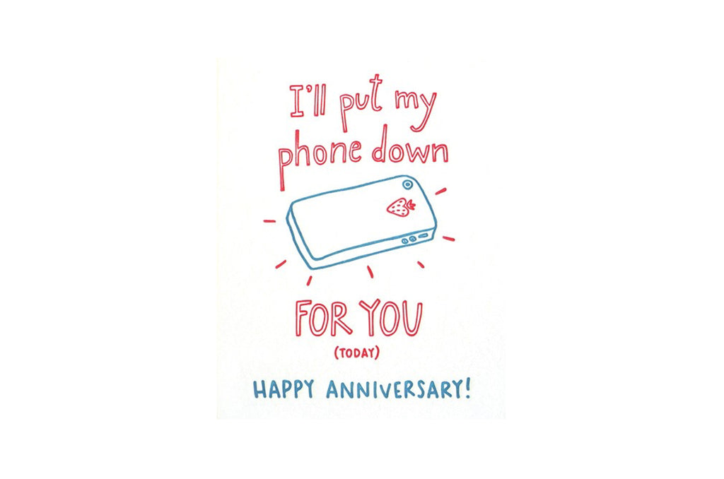 Phone Anniversary Card